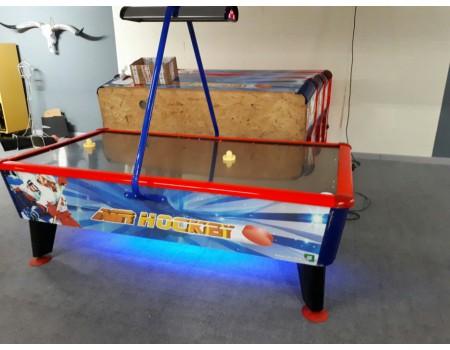 8FT Airhockey tafel Wik Gold - Occasion - NOG 3 OP VOORRAAD - Margeprijs