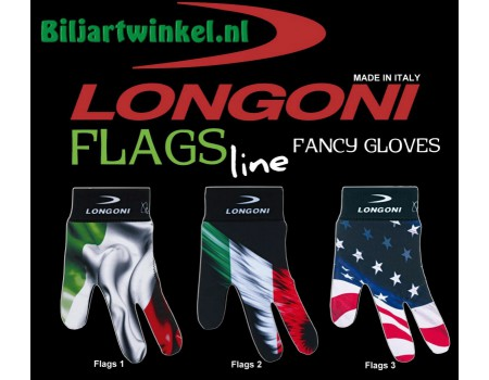 Longoni biljarthandschoenen Country Flags Line