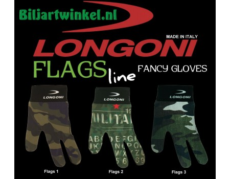 Longoni gloves military flags