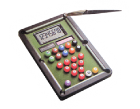 Pooltable desk calculator