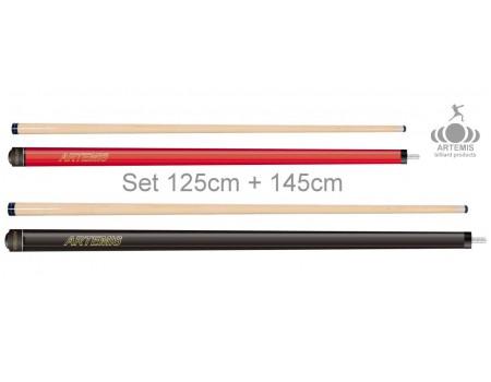 Poolkeuen set Artemis Solid Red & Black