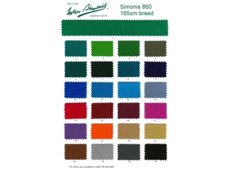 Simonis 860-165 poollaken kleurenkaart