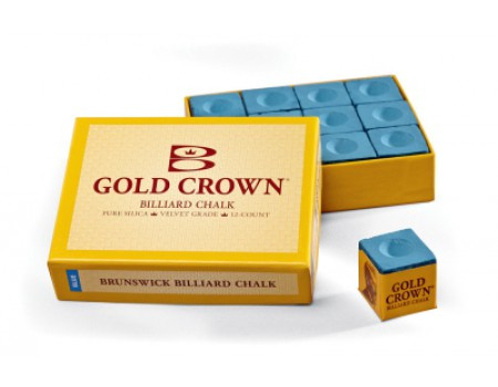 Brunswick biljartkrijt Gold Crown Blue