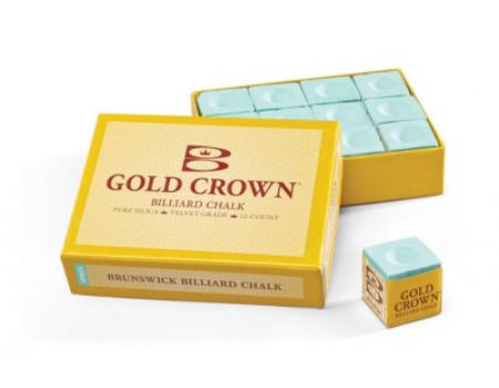 Brunswick gold crown biljartkrijt Groen 12 stuks