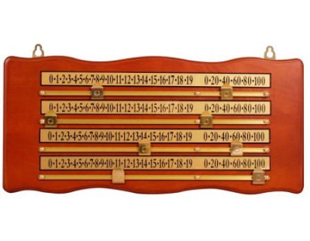 Snooker scorebord 4 personen 50/23cm