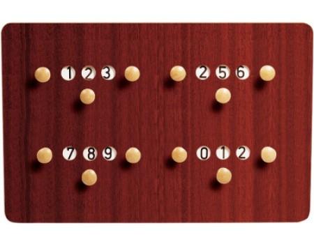 Biljart Scorebord standaard voor 4 personen