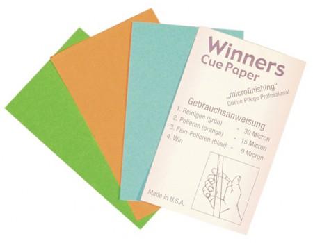 Winner cue paper microfinishing