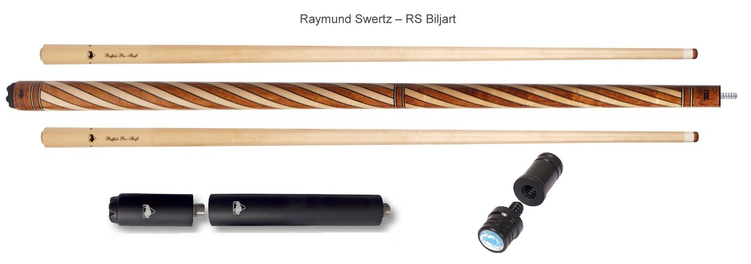 Buffalo biljartkeu Raymond Swertz 1 butt 2 shaft radial joint