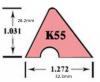 Maatvoering K55 profiel